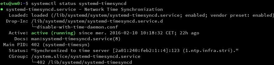 systemd-timesyncd status